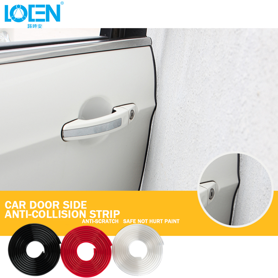 5M lot PVC Car Door Guard Edge Decoration Strip Protector Creative Stickers  Black White Red. Compare Prices on White Pvc Doors  Online Shopping Buy Low Price
