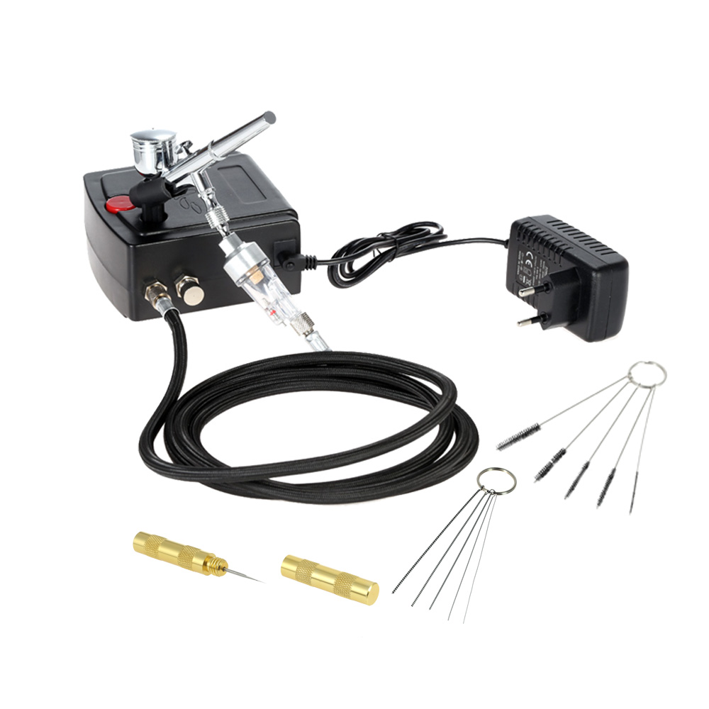 Dual Action Airbrush compressor kit paint spray gun sandblaster Air brush Nail Tool for Art Paint