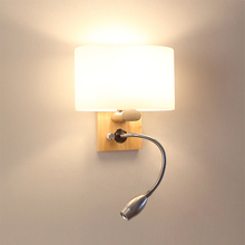 Moda rústico lámparas de pared Vintage lámpara de pared de hierro forjado iluminación interior corredor pared cabecera sconce salón lampara para habitacion de bebe luces barra pared lampara de madera
