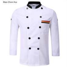 Long sleeve chef jackets Hotel Bakery Food Service kitchen costume  Breathable Double Breasted restaurant uniforms shirts
