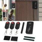 LESHP Smart Magnetic Sensor Remote Control Wireless Door Window Voice Alarm Home House Entry Burglar Security System 110db Black