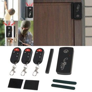 Sensor magnético inteligente LESHP Control remoto inalámbrico puerta ventana voz alarma casa entrada Sistema de Seguridad ANTIRROBO 110db negro
