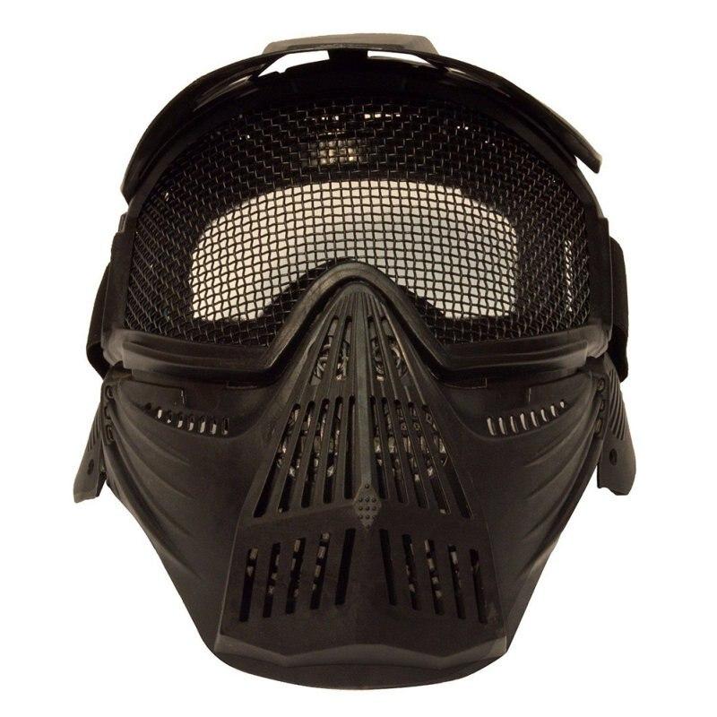 Prix pour * Nouveau Professionnel En Plein Air Moto Cyclisme Protection Masque Tactique Militaire Airsoft Sécurité Metal Mesh Lunettes Masque Complet