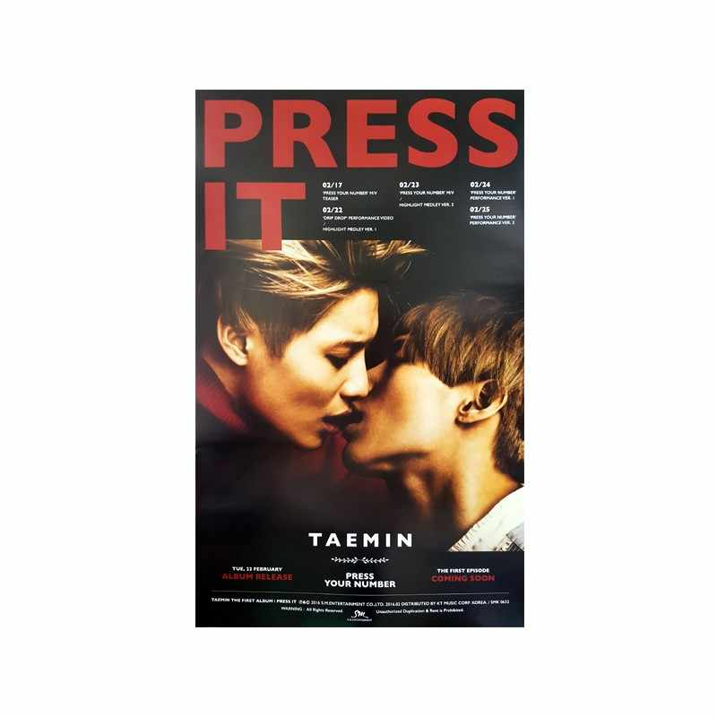 Taemin (SHINee) -Press It poster 24x36inch Art Print silk  Poster