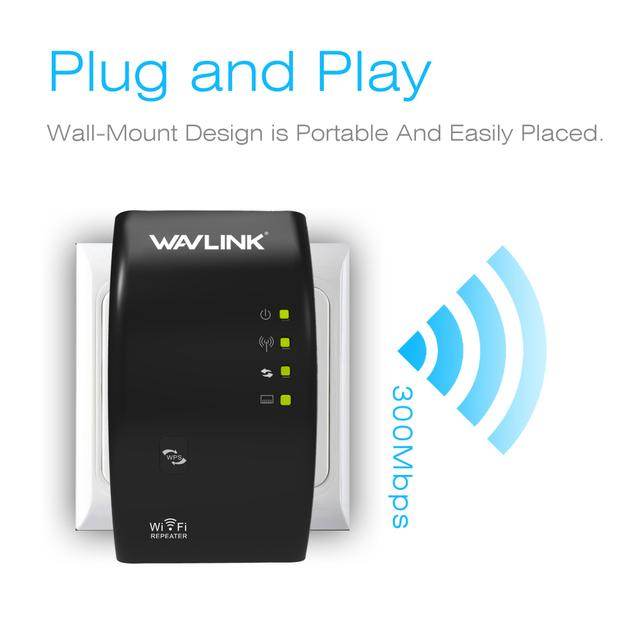 Wavlink N300 Original Wi fi Repeater 300Mbps Mini Wireless N Router Wifi Repeater Long Range Extender Booster UK EU US AU Plug