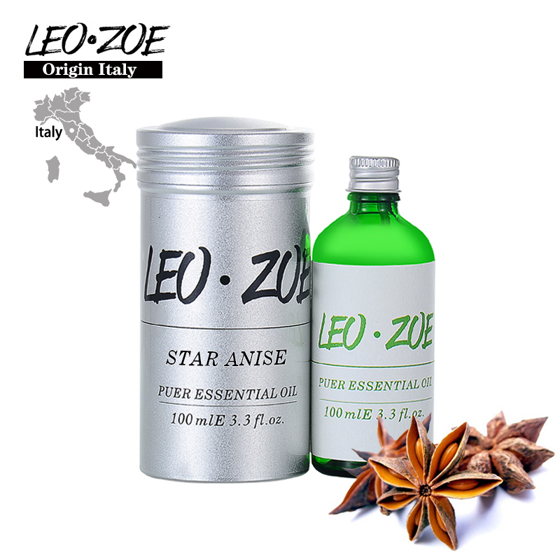 цена на LEOZOE Star Anise Essential Oil Certificate Of Origin Italy AromatheraHigh Quality Star Anise Oil 100ml Etherische Olie