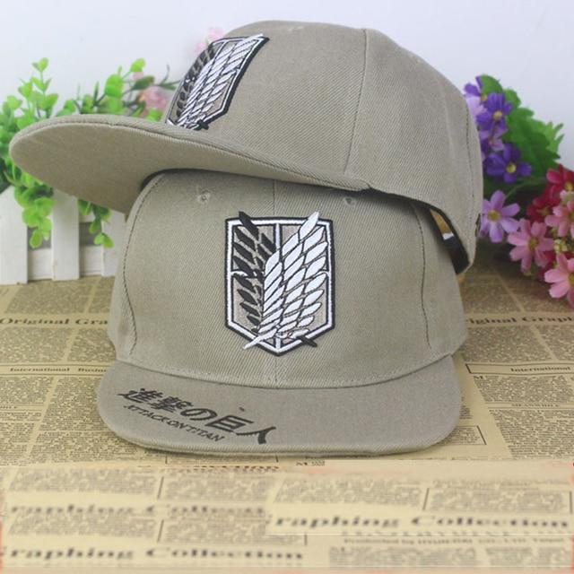 Ataque anime en Titán algodón gorra de béisbol Sol sombrero regalo Cosplay  hip-hop 2015 202329bdef0