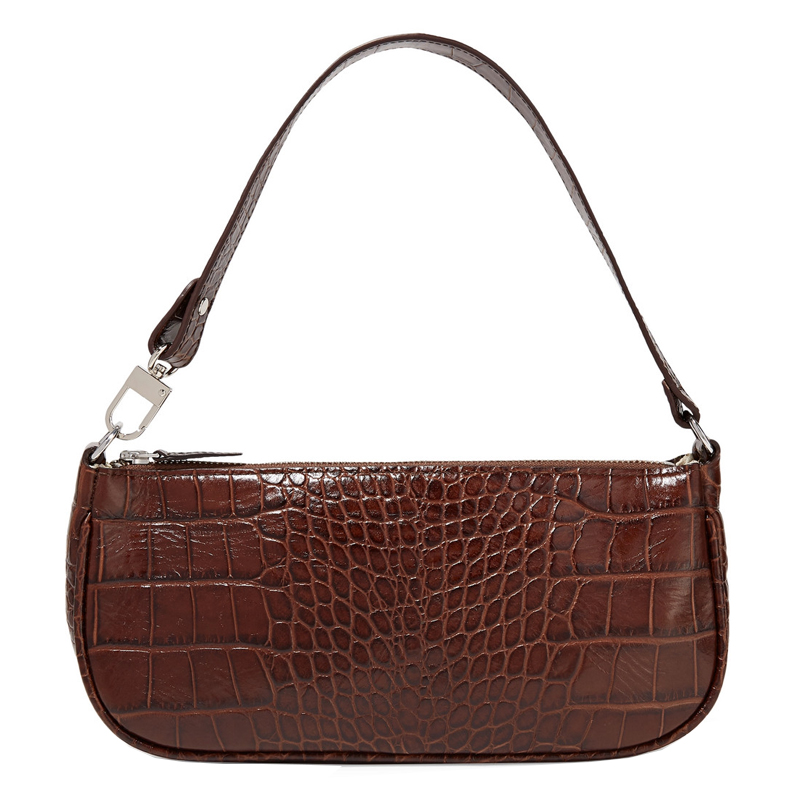 2019 female crocodile pattern PU leather bag retro luxury designer handbag brand small