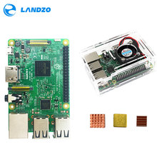 Big sale C Raspberry Pi 3 starter kit-raspberry pi 3 model b with wifi & blue and raspberry pi case with fan and heat sink