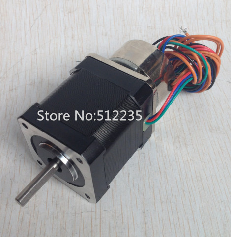 free shipping  4-lead Nema 17 Stepper Motor nema 17 step motor with brake  CNC Laser and 3D printer 3d printer parts reprap ultimaker z motor with trapezoidal lead srew tr 8 8 p2 free shipping