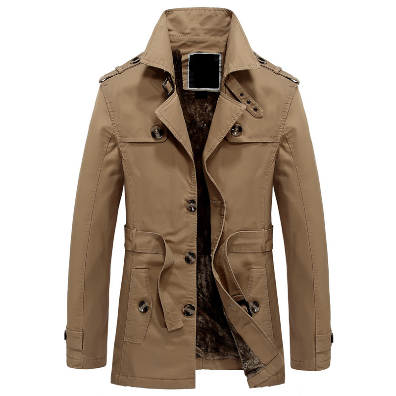 Long Trench Coats Single Breasted Military Promotion-Shop for ...