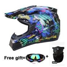 Новые мужские Каско Capacete Moto rcycle шлем Байк ATV Moto крест шлем off road racing Moto шлем Бесплатная доставка размеры S M L XL