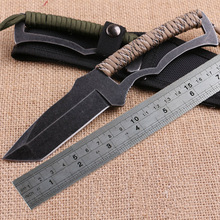 WTT Hunting Fixed Blade knife For 58HRC stone wash Surface outdoor Tactical Camping Straight knife EDC Tools