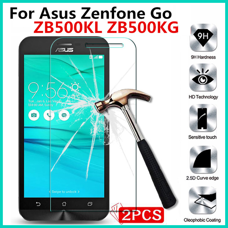 For <font><b>Asus</b></font> <font><b>Zenfone</b></font> Go <font><b>ZB500KL</b></font> ZB500KG zb500 500kl 500kg zb 500 kl kg 5.0inch Tempered Glass Screen Protector Protective Film Case
