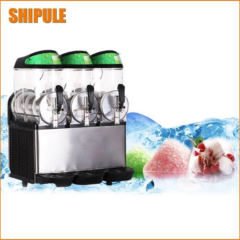 3 Tanks 36L Commercial Frozen Drink Slush Slushy Machine 3 Cylinders Ice Smooth