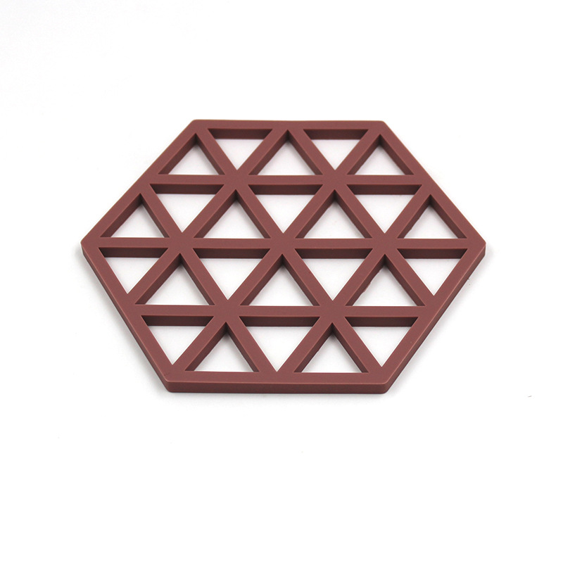 1 pcs KECTTIO Creative Hexagon Silicone Placemat Heat resistant Bowl Mat Kitchen Table Insulation Pad Six Colors Are Available