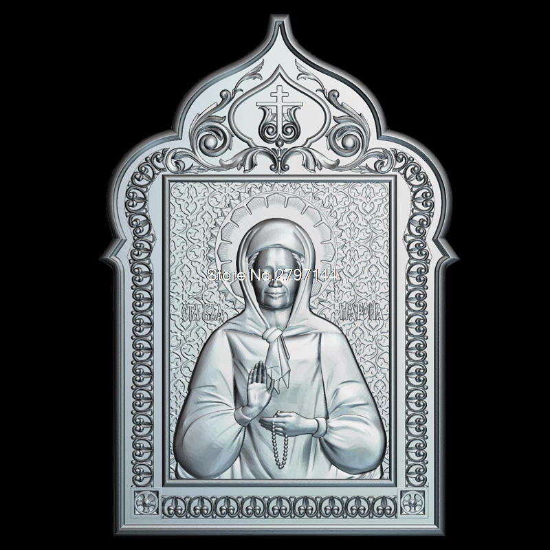 Icon Matrona of Moscow 3D model relief figure STL format Religion 3d model relief  for cnc in STL file format venerable nikita stylites pereslavsky 3d model relief figure stl format religion 3d model relief for cnc in stl file format