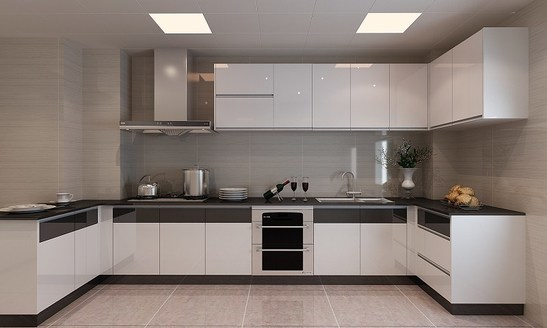 0436 Modern White Lacquer Kitchen Cabinet