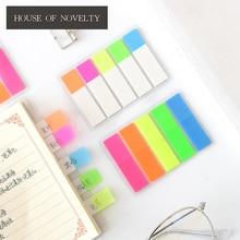 Fresh Rainbow Color Memo Pad Sticky Notes Memo Notebook Stationery Papelaria Escolar School Supplies