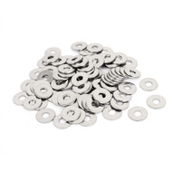 100Pcs M6x18mmx1 5mm Stainless Steel Metric Round Flat Washer For Bolt Screw