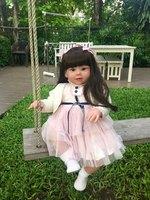 70 см Силиконовая виниловая Кукла реборн Реалистичная серия Emulational большой размер Детская кукла реборн игрушка одежда модель девочки Brinquedos