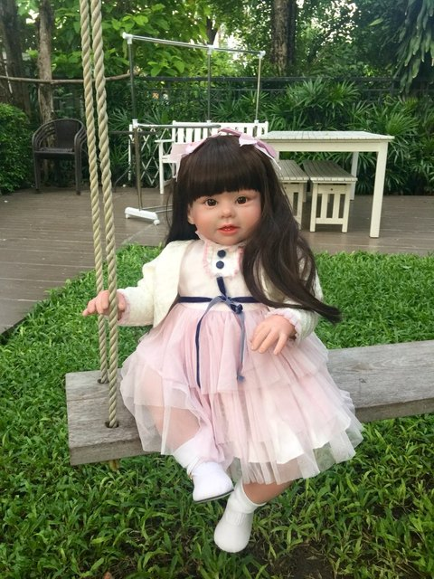 70cm Silicone Vinyl Reborn Baby Doll lifelike Series Emulational Big Size Baby Reborn Doll Toy Clothing Model Girls Brinquedos
