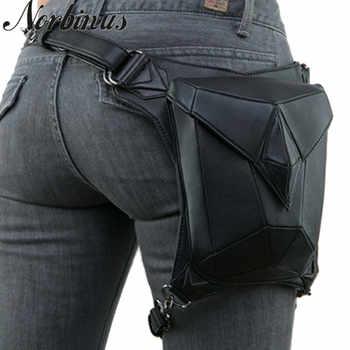Norbinus Goth Women PU Leather Waist Fanny Leg Bag Drop Belt Hip Motorcycle Punk Rock Messenger Shoulder Crossbody Holster Pack - DISCOUNT ITEM  45 OFF Luggage & Bags