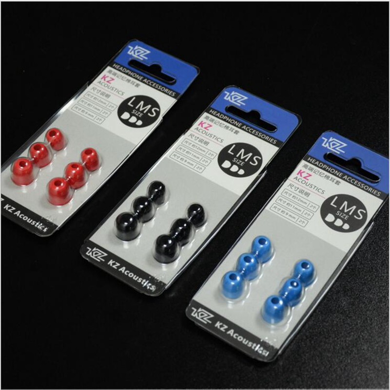 KZ 3Pair/6pcs Medium 5mm Noise Isolating 3 color Comfortable Silicone Ear Tips Memory Foam Ear pads for KZ Headphone Earbud блокнот printio пионы акварель
