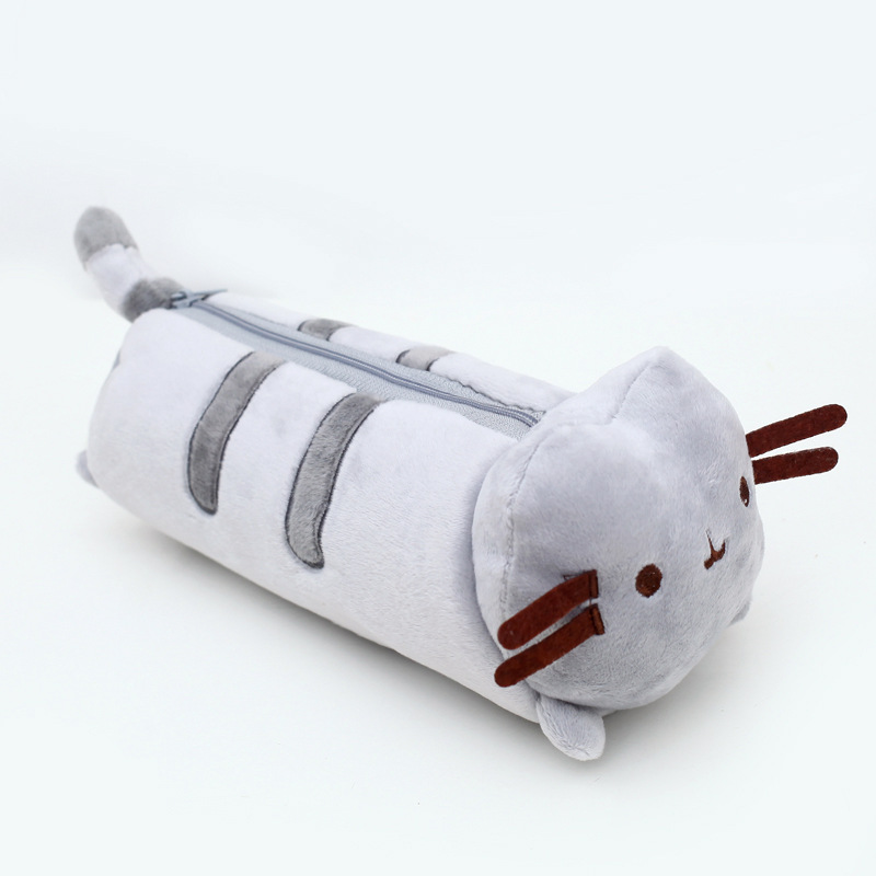 23cm Pusheen Plush Bag Kawaii Cartoon Pusheen Cat Plush Toys Soft Stuffed Pusheen Plush Pen Bag for Kids Children Gifts коврики салона rival для nissan terrano 2wd 2014 2016 renault duster 2wd 2010 2015 резина 64701001