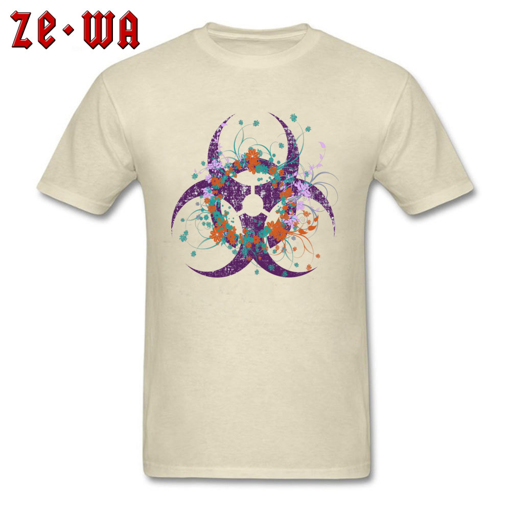 Normal Beautiful Biohazard Tops Shirt for Students 2018 Summer Round Neck Cotton Short Sleeve Top T-shirts 3D Printed T Shirt Beautiful Biohazard beige