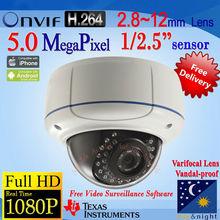 5MP TI решение HD система видеонаблюдения ip-камера встроенный POE Варифокальным 2.8 ~ 12 мм Широкий Угол Зрения Сети IPC W898vG-B-POE