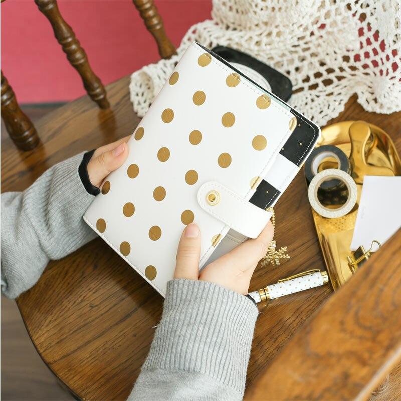 Lovedoki Cute Foil Planner A5 A6 Spiral Notebook Bullet Journal