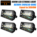 TIPTOP 4XLOT Atomic 3000 3000W DMX Strobe Light Replacement Led 400W Strobe Light New Arrival 90V-240V for Korea Japan America