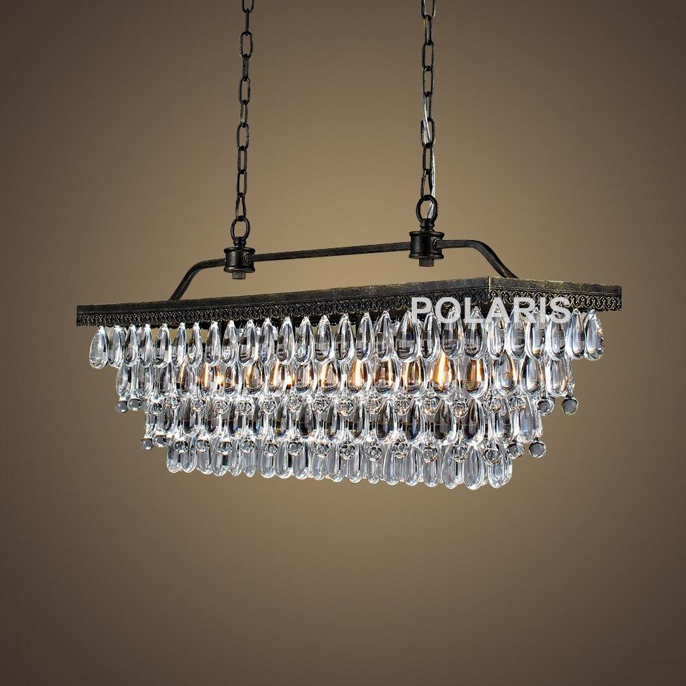 Livraison gratuite moderne Vintage lustre en cristal éclairage larme gouttes lustres pendentif suspension pour la décoration de l'hôtel à la maison