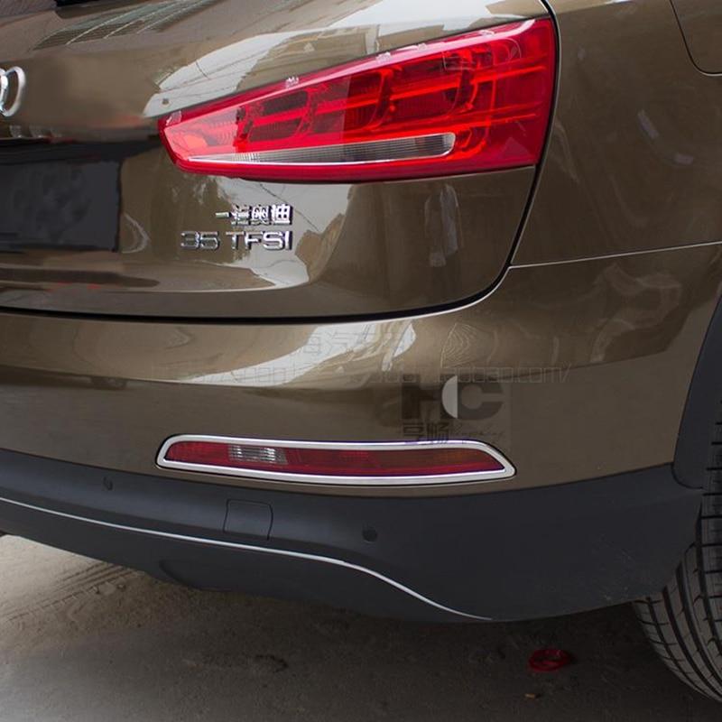 Otomobiller ve Motosikletler'ten Krom Şekillendirici'de Araba Styling ABS Krom Arka Sis Lambası Kapağı Sis Işık Lambası Düzeltir Dekorasyon Audi Q5 2009 2010 2011 2012 2013 2014 2015 2016 title=