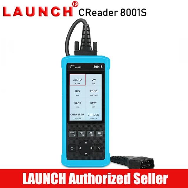 Flash Promo Launch Creader 8001S 4 System Car Diagnostic Tool Full OBD2 Automotive Code Reader Scanner Oil Reset Brake Reset SAS BMS