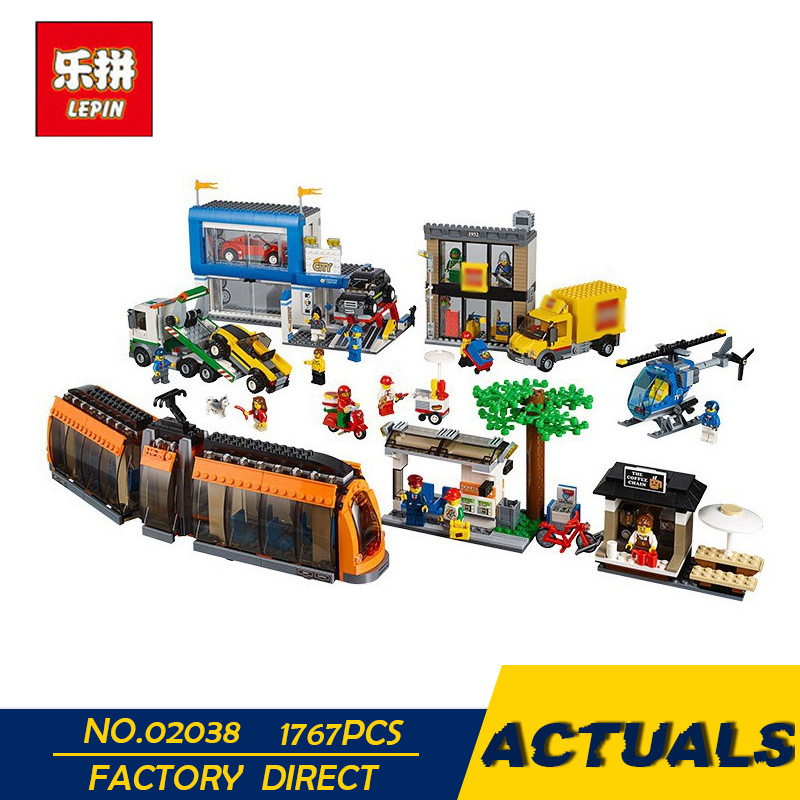 LEPIN 02038 1767pcs City Series The City Square Education Building Blocks Bricks Toys Compatible 60097 In Stock dhl lepin 02038 1767pcs city series the city square education building blocks bricks toys compatible 60097 in stock