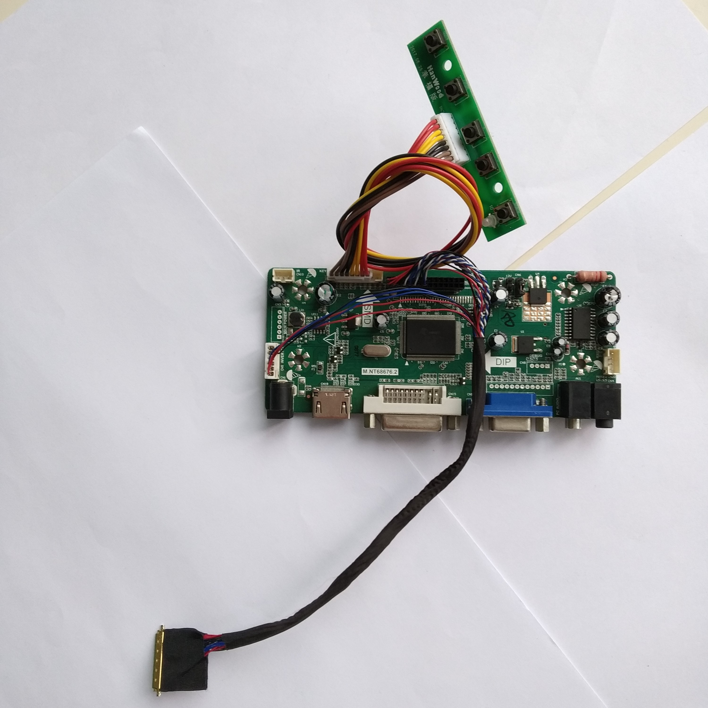 Kit for HSD101PFW4-A00 LCD LED LVDS Controller Driver Board HDMI+DVI+VGA