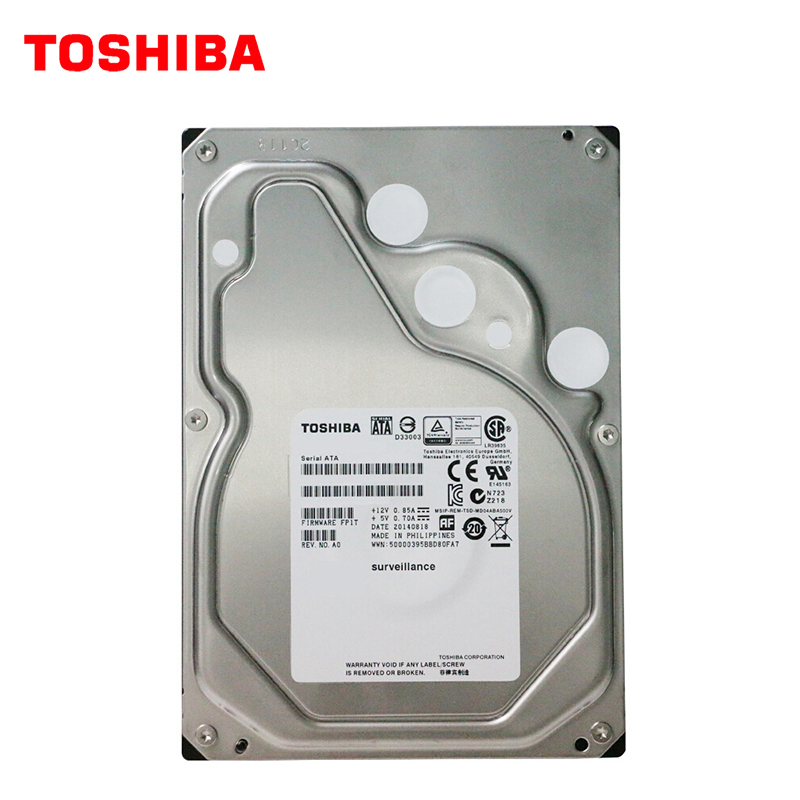 Disque dur interne TOSHIBA 4 to SATA3 6 Gb/s HDD HD 7200 RPM 3.5