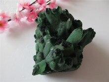 Unique Natural Green Crystal Cluster Skeletal Quartz Point Wand Mineral Healing Crystal Druse Vug Specimen Natural Stone