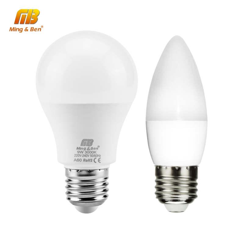 10PCS LED Bulbs E27 3W 5W 7W 9W 12W 15W 18W AC 220V 230V Smart IC SMD2835 LED Candle Light Lampada Ampoule Bombilla Lamps Light