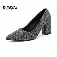 2018 новый стиль классические пикантные Обувь на высоком каблуке летний комплект ног Дикий Ретро Банкетный горячий воздух Повседневная Проф...