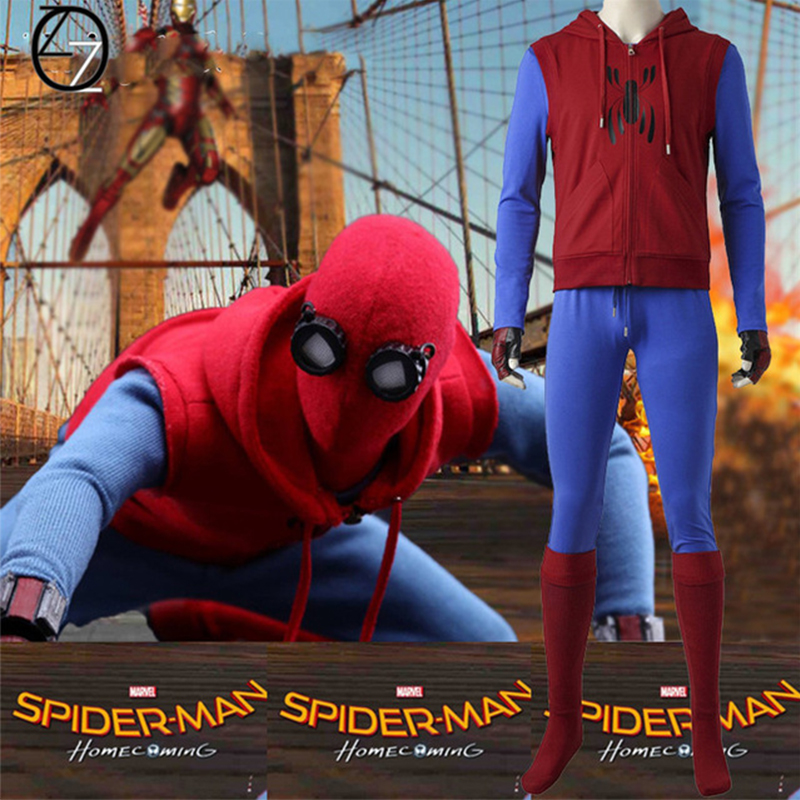 Spider-Man Homecoming Spiderman Cosplay Costume Custom Made Superhero Halloween Costumes For Adult Cosplay Spider Man Clothing