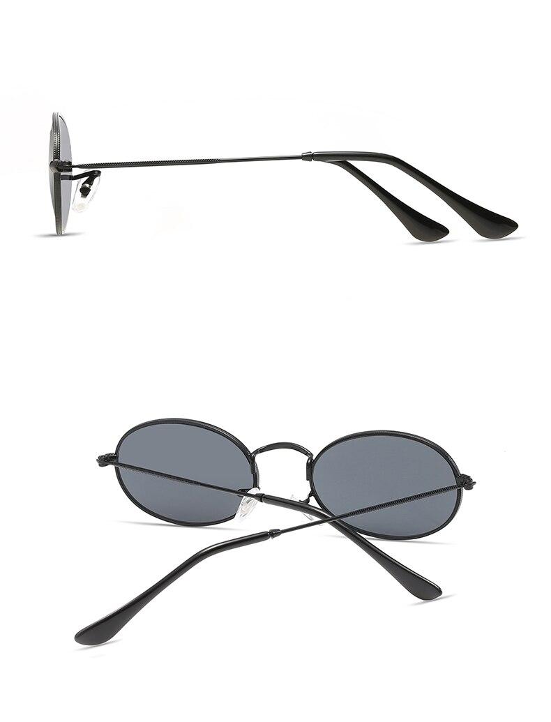 6a9b37396 Peekaboo pequeno oval óculos de sol tamanho pequeno homens negros do sexo  masculino rodada armação de metal óculos de sol para as mulheres espelho  uv400.
