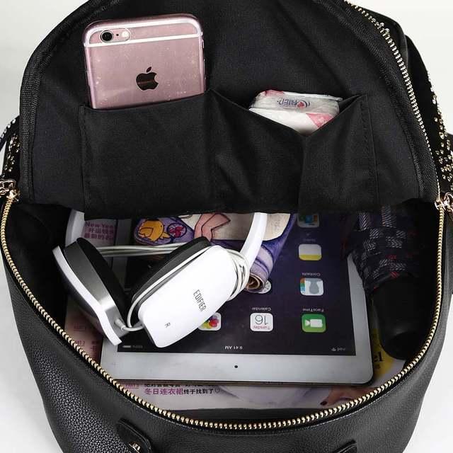 d50bcb357703 Online Shop Glitter Leather Backpacks For Teenage Girls School Bag Female  Large Bling Fashion Backpack Women Travel Bags mochila XA1151H