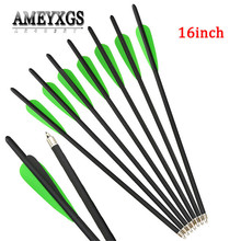 10pcs 17 Inch Crossbow Arrow OD 8.8mm Carbon 100grain Replaceable Broadhead For Shooting Hunting Accessories