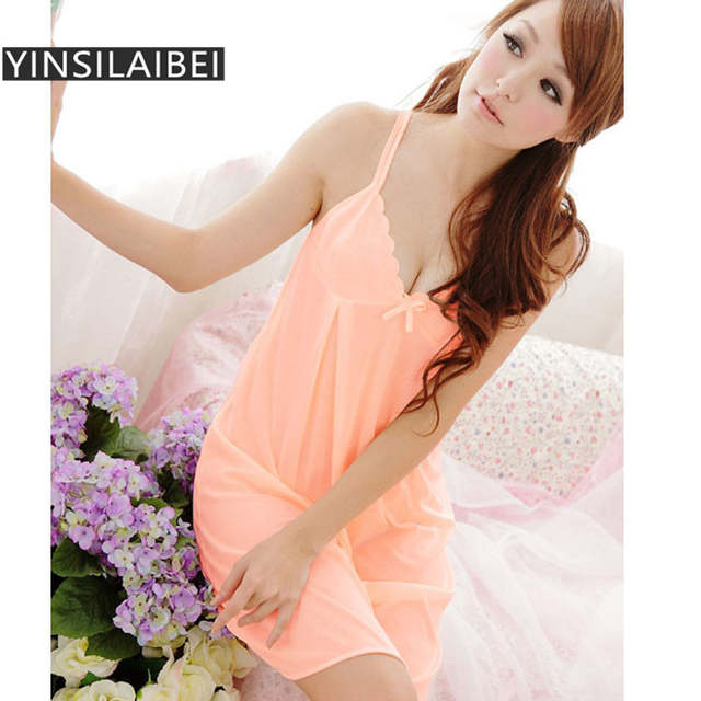 9ae4de918057 placeholder 2pcs/Set Women Nightwear Sleepwear Sexy Ice Silk Satin  Nightgowns Sexy Night Sleeping Dress Night