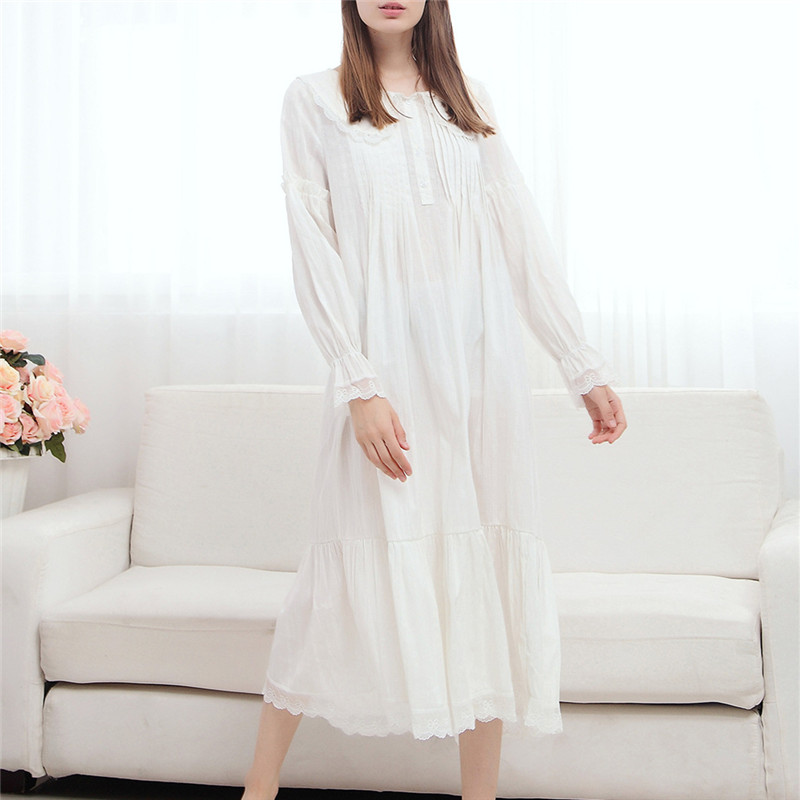 Buy 2016 summer long cotton nightgown Long cotton sleep shirts