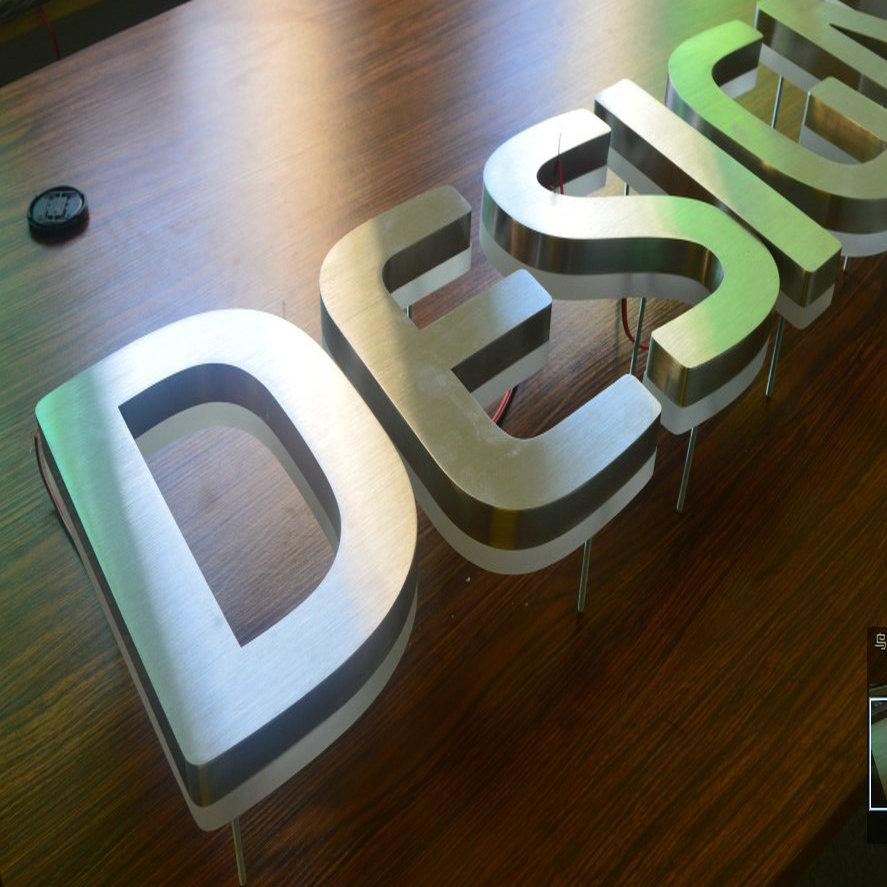 Custom Steel Letters Amazing 3D Custom Advertising Led Backlit Illuminated Letters And Signs Decorating Design