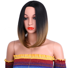 Synthetic ombre black brown bob wig 14 inch 35cm long 613 wig for party and cosplay Dream ice's